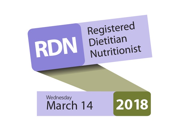 Registered Dietitian Nutritionist Day on Wednesday, March 14